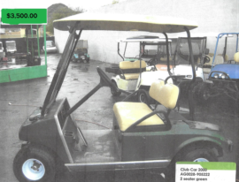 Club Car 2000 2 seater green