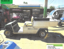 Club Car 2000 2 seater with utility