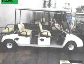 Club Car 6 Seater w bucket seats