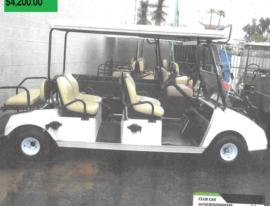 Club Car 6 Seater w bucket seats