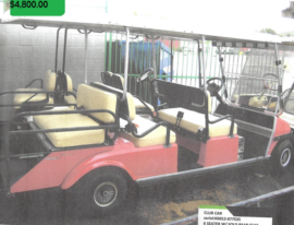 Club Car 6 Seater w fold rear seat