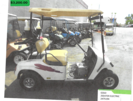 EZGO 2 seater electric