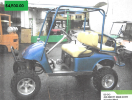 EZGO 2 seater lifted