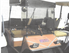EZGO 2 seater orange