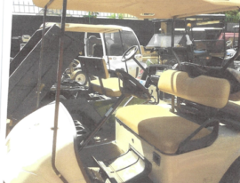 EZGO 2 seater with rear seats
