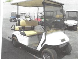 EZGO 4 seater white 6-6volt