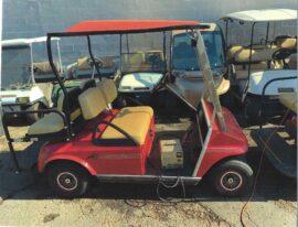 Red Club Car 2+2 Electric Cart $3200