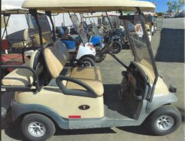 Tan Club Car 4 Seater $4300